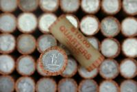 SEALED $10 FV 90% Silver Quarters Lot of 1x Roll Washington Barber Roll P D S
