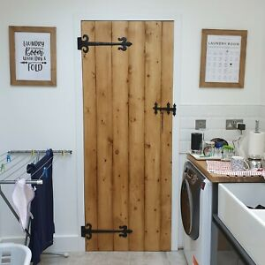 PLANK - DOOR - MADE TO MEASURE - SOLID PINE - COTTAGE - LEDGE AND BRACE