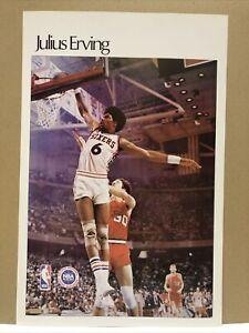 """JULIUS ERVING """"DR J"""" PROMO POSTER 24�� X 16"""" NBA 76er's BASKETBALL 🏀"""