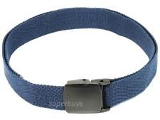 Blue Tactical Belt Canvas Nylon Buckle Army Duty Police Security Military 32mm