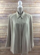 Lane Bryant Women's Size 14/16 - 1X L/S Shirt Snap Buttons Career Beige Stretch