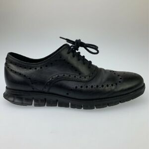 Cole Haan Mens Zerogrand Wingtip Oxford Shoe Black Leather Lace Up 10.5M