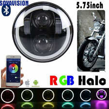 "RGB 40W 5.75 inch round motorcycle headlight harley Motor 5 3/4"" led headlamp"