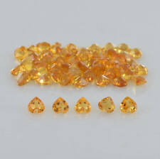 Natural Citrine 4mm Heart Cut 50 Pieces Top Quality Loose Gemstone AU