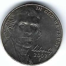 2007-P Philadelphia Uncirculated Jefferson Nickel Five Cent Coin!