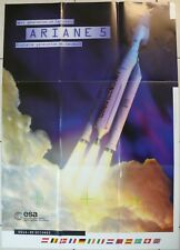 Ariane 5 Großformat Poster 88 x 62 cm Rarität neuwertig 20 Jahre alt