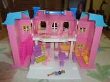 Vintage doll house Beverly Place Mansion light up Blue Box toy