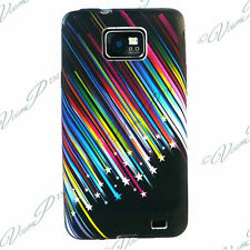 Accessorie Case Cover Gel Colour Star Shooting BLACK Samsung Galaxy S2 i9100