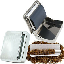 Tobacco Cigarette Rolling Machine Metal Roller Tin Metal Box Holder Hand Rolled