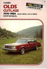 Olds Cutlass 1970-1984 Shop Manual Clymer Rear Drive Gas Diesel Full Color