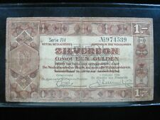 NETHERLANDS 1 ZILVERBON GULDEN 1938 DUTCH 39# Currency Bank Money Banknote