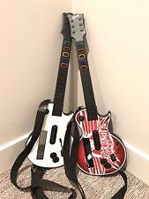 Lot Of 2 Nintendo Wii Guitar Hero Aerosmith Les Paul Wireless Guitar Controllers