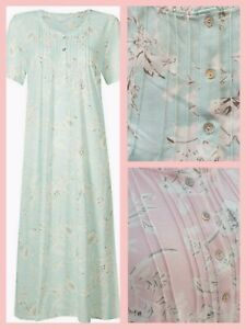 Womens Nightdress Short Sleeve Nightie Size 6-26 New Ex M&S RRP £18