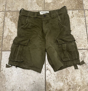 men's abercrombie and fitch cargo shorts size 34 new with tags
