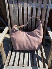 Michael Kors Fulton Pink Leather Hobo Shoulder Bag