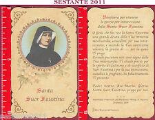 1450 SANTINO HOLY CARD SANTA S. SUOR FAUSTINA