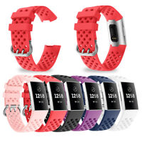 Replacement Silicone Watch Wrist Sports Band Strap For Fitbit Charge 3 Wristband