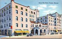 1930s TUCSON Santa Rita Hotel Arizona Linen Postcard CH
