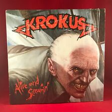 KROKUS Alive And Screamin' -986 German  VINYL LP + INNER EXCELLENT CONDITION