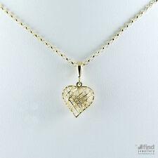 9Carat Yellow Gold heart Fine Necklaces & Pendants