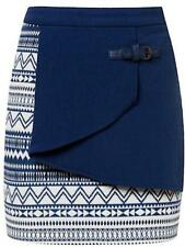 Machine Washable Mini Geometric Skirts for Women