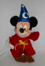 "New listing Disney World 12"" Plush Fantasia Sorcerer Mickey Mouse Stuffed Animal Toy Doll"