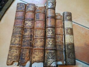 Lot Livres Anciens Reliés Cuir XVIIIème Siècle Collection