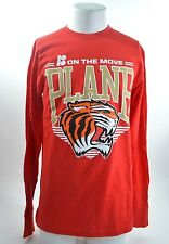 2014 NWOT MENS PLAN B ON THE MOVE LONG SLEEVE SHIRT $35 L red tiger