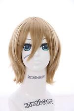 W-10-25 Blond Blonde short 33cm Bob Cosplay Wig Wig Hair Anime Manga
