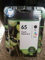 2-PACK HP GENUINE 65 Black & Tri-Color Ink (RETAIL BOX) BRAND NEW!!! EXP 12/2020