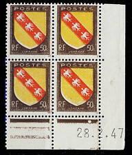 FRANCE - 1947 - N°757 50c LORRAINE COIN DATÉ du 28.2.47 (1 point blanc) - TB