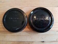 Original Vintage Olympus OM System Body Cap And Rear Lens Cap