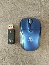 New listing Logitech V220 M-Rbs136 Blue Wireless Mouse with Receiver Barely Used