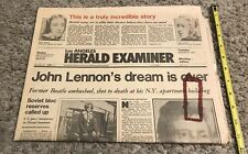1980 L A Harold Examiner Newspaper John Lennon Dream is Over.