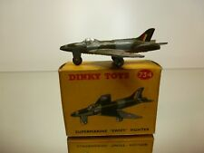 DINKY TOYS  734 SUPERMARINE SWIFT FIGHTER - GREY L6.5cm - GOOD CONDITION IN BOX