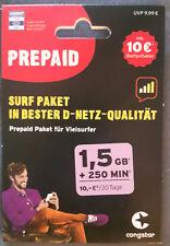 Congstar Surf Paket 1 25 GB 100 Minuten 10 Euro Prepaid