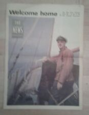 The Portsmouth News Newspaper June 1968 Welcome Home Alec Rose Souvenir Edition.