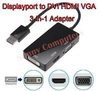 Displayport to HDMI DVI VGA Adapter For HP DELL Lenovo Philips Laptop Notebook