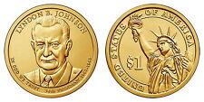 USA  ESTADOS UNIDOS   2015 - P  1 DOLLAR ALU-BR   LYNDON B. JOHNSON   UNC   Nº36