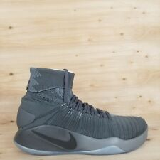 NIKE HYPERDUNK 2016 FK FLYKNIT BASKETBALL SHOES DARK GREY MEN'S SZ.12