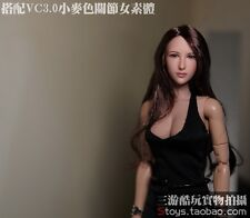 "DREAMER 1/6 Women Girl Long Hair Head Sculpt DR001 F/12"" Female Body Figure"