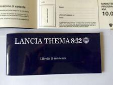 Libretto Tagliandi Lancia Thema 8.32