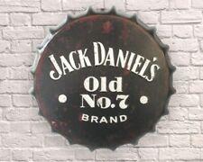 JACK DANIELS WHISKY Retro Vintage Wall Sign Tin Metal 40cm Bottle Top - FREE P+P