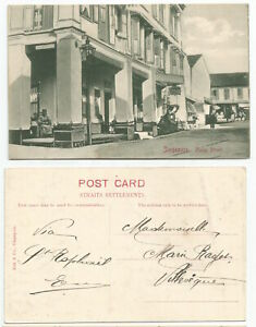 STRAITS S. SINGAPORE 1908 Malay Street, Singapore PC sent to France    Ed. Koh