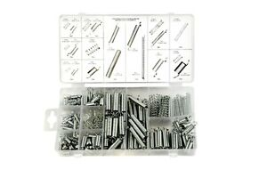 200 pc steel assorted spring kit, 20 sizes with compressed and extended springs