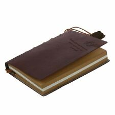 Classic Vintage Leather Bound pagine in bianco ufficiale Diario Notebook U9 X3G4