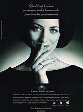 PUBLICITE  ADVERTISING  1998   DE BEERS  joaillier diamantaire