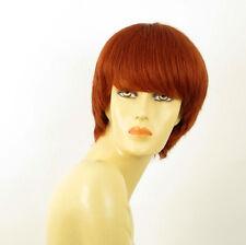 perruque femme 100% cheveux naturel courte cuivré intense ref LALIE 130