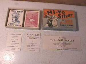 1938 Hi-Yo Silver Lone Rangers Card Game- MIB