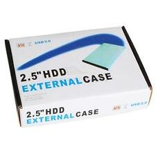 "Lot 2 New 2.5"" Aluminum External Red USB 2.0 SATA HDD Hard Drive Enclosure Case"